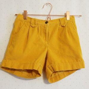 Hanna Andersson | Yellow Corduroy Shorts
